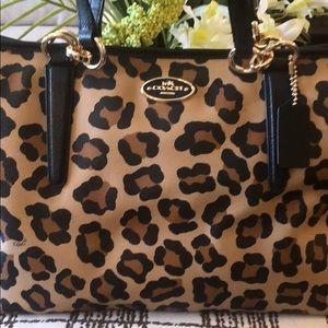 8a701e3817da Coach Leopard Print Handbag on Poshmark